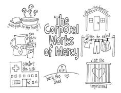 mercy watson coloring pages | Works of Mercy Crossword - | Printable Activities for Kids ...