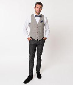 8e5187eb5ec Unique Vintage 1930s Style Brown Checkered Woven Men Pants Pixar Shorts