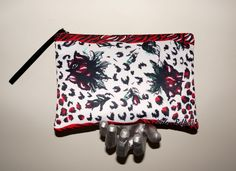 RED ROSE Fashion unique print Cutch bags in 8 different  models designed by artist Helen Bellart. You can buy it in online shop www.helenbellart.com
