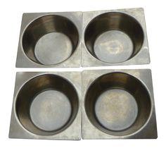 Danish Modern Stainless Steel Bowls - Set of 4 on Chairish.com