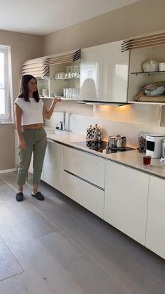 Dirty Kitchen Design, Kitchen Cupboard Designs, New Kitchen Designs, Luxury Kitchen Design, Kitchen Room Design, Room Design Bedroom, Home Room Design, Kitchen Cupboards, Smart Home Design