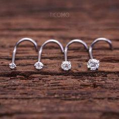 Cute Nose Piercings, Nose Piercing Jewelry, Piercings For Girls, Body Piercing, Diamond Nose Stud, Nose Ring Stud, Diamond Earrings, Tiny Nose Studs, 1 Piece