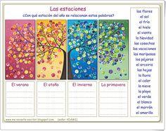 """""""Palabras que evocan las estaciones del año"""" (Me-encanta-escribir.blogspot.com)"""