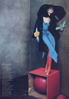"""timeless-couture:    """"Mad About You""""  Eugenia Volodina photographed by Steven Meisel for Vogue US October 2003  See more from this sethere"""