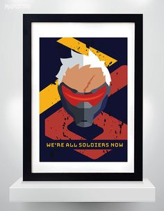 SOLDIER 76 OVERWATCH Wall Art Print Game Poster by MixPosters