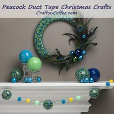 Make these Christmas crafts in two hours and with one role of Peacock Duck Tape.