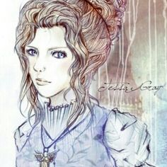 Original version : [link] (c) character belongs to Cassandra Clare ( Infernal Devices-Clockwork Angel) xoxo Tessa Gray- Coloured Version Tessa Gray, Will Herondale, Clockwork Angel, Cassandra Clare Books, Jace Wayland, Book Characters, Fictional Characters, The Infernal Devices, The Mortal Instruments