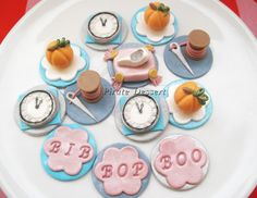 CINDERELLA Edible Cupcake toppers Princess Party Set - Cinderell Fondant cupcake decorations - Birthday - PRINCESS CUPCAKES  (12 pieces)