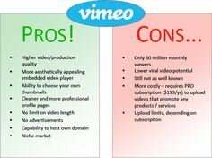 Business 2 CommunityYouTube vs. Vimeo: Which Is Better for B2B Content Marketing?Business 2 CommunityPros and Cons of Vimeo and YouTube for B2B Content Marketing Each of the two video hosts has its distinct advantages and disadvantages. Sourced through Scoop.it from: www.business2community.com