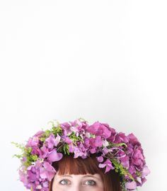 DIY flower crown by @Christina & Kahler Lidy Blog + @Rachel Smith | The Crafted Life |