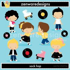 Sock Hop Clipart by ZenwareDesigns on Etsy