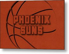 Suns Metal Print featuring the photograph Phoenix Suns Leather Art by Joe Hamilton