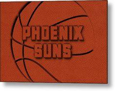 Suns Metal Print featuring the photograph Phoenix Suns Leather Art by Joe Hamilton