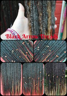 60 synthetic dreads with beads and puffy plaits with a slight ombre made here at black arrow dreads #blackarrowdreads