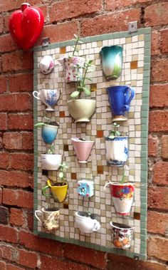 Great idea for chipped and broken crockery! Makes a great conversational piece.