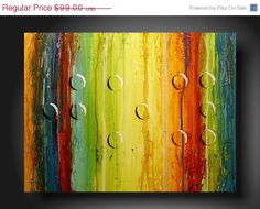 """This is a painting from JMJ Art studios on Etsy.com I LOVE it! the dots are letters in braille that spell """"joy"""". It makes me happy everytime see it. Mine's just a little different."""