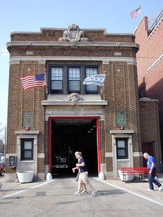 Fire Station on Waveland Avenue next to Wrigley Field Chicago Fire Department, Fire Dept, Wildland Fire, Fire Photography, Wrigley Field, My Kind Of Town, Fire Apparatus, Fire Trucks, The Neighbourhood