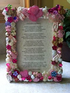 Teddy Bear Tea Party 5x7 Button Picture Frame on Etsy