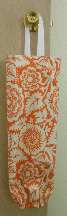 Reversible Grocery Bag Holder  Green Orange and by angelandlily