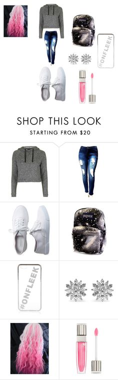 Causel school day by meleal on Polyvore featuring Topshop, Aéropostale, Kenneth Jay Lane, River Island and Lancôme