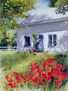 More inspirations to the collection! Watercolor Landscape Paintings, Watercolour Painting, Landscape Art, Floral Watercolor, Watercolours, Photo D Art, Country Art, Chalk Art, Art Sketchbook