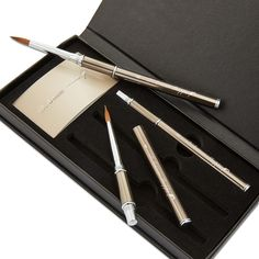 Wayfarer Portable Travel Brushes for Watercolor. So pretty! Love that it's Kolinsky Sable too.