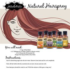 Natural Hairspray from JE Essential Oils