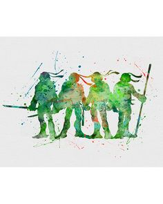 Teenage Mutant Ninja Turtles Watercolor Art