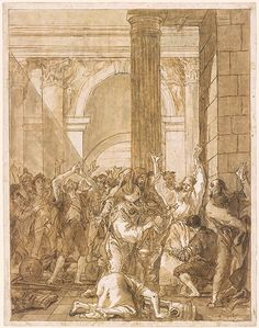 Giovanni Domenico Tiepolo | St. Paul at Lystra | Drawings Online | The Morgan Library & Museum