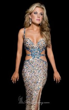 Sequined Gown by Jasz Couture 4109C