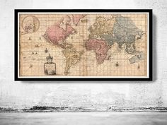 Old World Map antique 1676 by OldCityPrints on Etsy