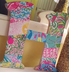 Diy Lilly letter