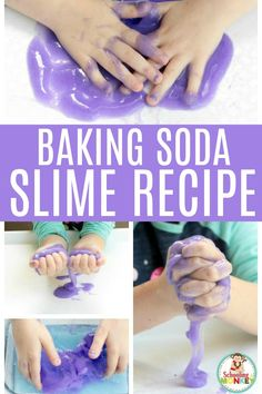 Learn how to make slime with baking soda. This easy baking soda slime recipe is the secret to making slime safe for sensitive skin. This borax-free slime is the perfect slime safe for kids. You can even use it as a preschool slime recipe! Don't miss out on the best slime recipe with baking soda. #slimerecipes #slime #slimer #kidsactivities #learningactivities