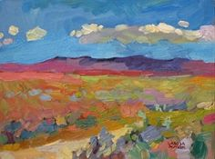 "Larisa Aukon, In the Middle of Nowhere by Larisa Aukon Oil ~ 9"" x 12"""