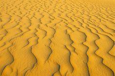 Image: Sand dune patterns in Libyan desert. (© Raimund Linke/Getty Images)