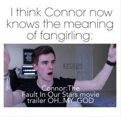 Connor Franta is now a Fangirl, YAAAASSSSSS!!!