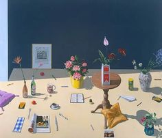 Paul Wonner - Untitled (Dutch Still Life with Cushions) For Sale at 1stDibs California College Of Arts, Dutch Still Life, Digital Museum, European Paintings, Collaborative Art, Painting Still Life, 8th Of March, American Artists, Painting & Drawing