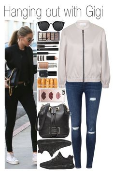 """#Hanging out with Gigi"" by didi-horan ❤ liked on Polyvore featuring adidas Originals, Miss Selfridge, Topshop, Marc by Marc Jacobs, Casetify, H&M, Giorgio Armani, La Bella Donna, Bobbi Brown Cosmetics and gigihadid"