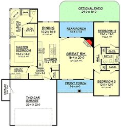 1569 sq ft Plan 11794HZ: Split Bedroom Craftsman House Plan