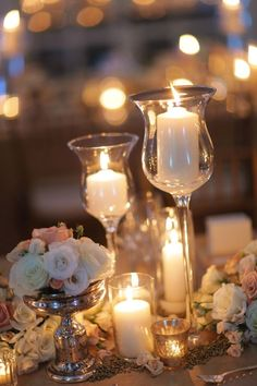 39 Ideas vintage wedding table settings centerpieces candles for 2019 Wedding Table Centerpieces, Wedding Table Settings, Reception Decorations, Romantic Centerpieces, Vintage Centerpieces, Graduation Centerpiece, Romantic Wedding Decor, Wedding Flowers, Wedding Vintage