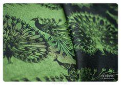 PAO black/green with linen - NATIBABY - Baby Wraps, Slings, Bedding, Nursing Tops #babywearing