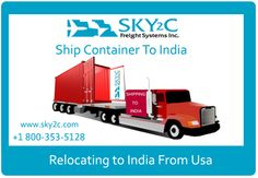 Ship your Container anywhere in India with Sky2c Freight Systems Inc.