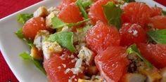 Салат с грейпфрутом и курицей Идеальный ужин