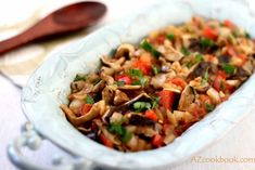 Learn how to make this delicious mushroom stew paired with vegetables and aromatic spices and herbs. Love at first fork! I Love Food, A Food, Uzbekistan Food, Turkish Recipes, Ethnic Recipes, Mushroom Stew, Vegetarian Entrees, Slow Cooker Soup, Vegetable Salad