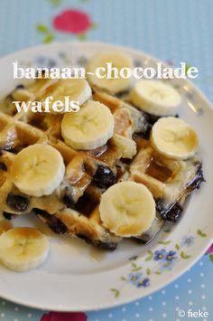 Banaan-chocoladewafels