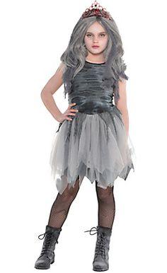 Zombie Prom Queen Girls Costume