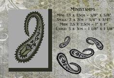 Ministamp MiniSMALLMIDI andLARGE Indian design by artistamps1