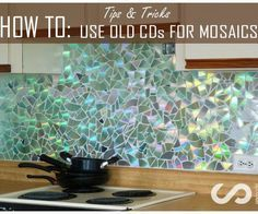 This instructable goes into detail about how we (my partner Renier and I) created a mosaic backsplash using CDs and the tips and tricks we learned along the way.The backsplash is truly impressive. When light shines on it, it creates beautiful colorful light shows that change depending on where you are standing in relation to it. Its reflective qualities bring more light to the space, actually minimizing the need to use artificial light when working in the kitchen during the day. One of its…