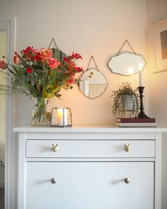 Hallway Decorating 361413938848711986 - Ikea hemnes shoe cupboard hack add brass hare drawer pulls to give a glamorous look. Hallway decor with Laura Ashley vintage trio of mirrors and Oliver bonas vase. Ikea Hallway, White Hallway, Long Hallway, Hallway Ideas, Entryway, Ikea Shoe Cupboard, Ikea Shoe Storage, Hidden Storage, Easy Storage