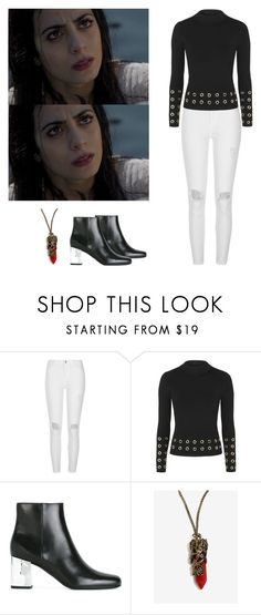 """Isabelle Lightwood - shadowhunters"" by shadyannon ❤ liked on Polyvore featuring River Island, Topshop and Yves Saint Laurent"